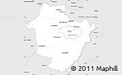 Silver Style Simple Map of Hajdú-Bihar