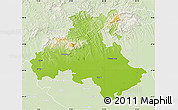 Physical Map of Heves, lighten