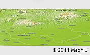 Physical Panoramic Map of Heves