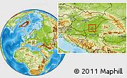 Physical Location Map of Hódmezovásárhely