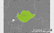 Physical Map of Hódmezovásárhely, desaturated