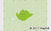 Physical Map of Hódmezovásárhely, lighten