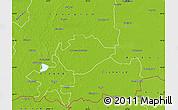 Physical Map of Hódmezovásárhely