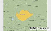 Savanna Style Map of Hódmezovásárhely