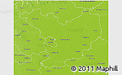 Physical 3D Map of Jász-Nagykun-Szolnok