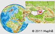 Physical Location Map of Jász-Nagykun-Szolnok, highlighted country