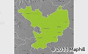 Physical Map of Jász-Nagykun-Szolnok, desaturated