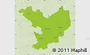 Physical Map of Jász-Nagykun-Szolnok, lighten