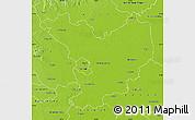 Physical Map of Jász-Nagykun-Szolnok