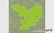Physical Map of Jász-Nagykun-Szolnok, semi-desaturated