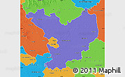 Political Map of Jász-Nagykun-Szolnok