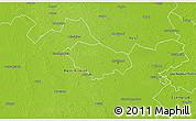 Physical 3D Map of Kecskemét