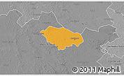 Political 3D Map of Kecskemét, desaturated