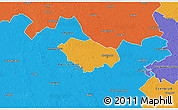 Political 3D Map of Kecskemét