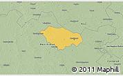 Savanna Style 3D Map of Kecskemét