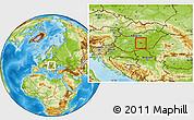 Physical Location Map of Kecskemét