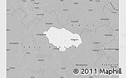 Gray Map of Kecskemét