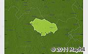 Physical Map of Kecskemét, darken
