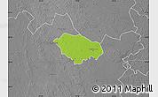 Physical Map of Kecskemét, desaturated