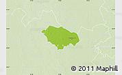Physical Map of Kecskemét, lighten