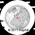 Outline Map of Kecskemét