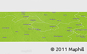 Physical Panoramic Map of Kecskemét