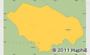 Savanna Style Simple Map of Kecskemét