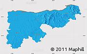 Political Map of Komárom-Esztergom, cropped outside