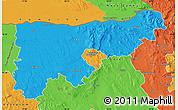 Political Map of Komárom-Esztergom