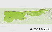 Physical Panoramic Map of Komárom-Esztergom, lighten