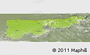 Physical Panoramic Map of Komárom-Esztergom, semi-desaturated