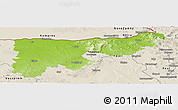 Physical Panoramic Map of Komárom-Esztergom, shaded relief outside
