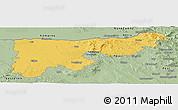 Savanna Style Panoramic Map of Komárom-Esztergom
