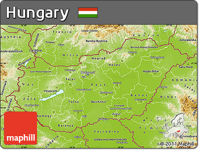 Free Physical Map of Hungary