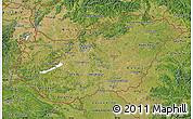 Satellite Map of Hungary