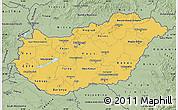Savanna Style Map of Hungary