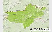 Physical Map of Nógrád, lighten