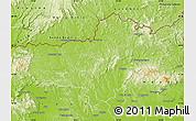 Physical Map of Nógrád