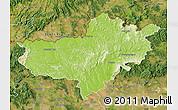 Physical Map of Nógrád, satellite outside