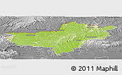 Physical Panoramic Map of Nógrád, desaturated