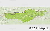 Physical Panoramic Map of Nógrád, lighten