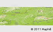 Physical Panoramic Map of Nógrád