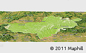 Physical Panoramic Map of Nógrád, satellite outside