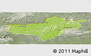 Physical Panoramic Map of Nógrád, semi-desaturated