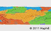 Political Panoramic Map of Nógrád