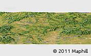 Satellite Panoramic Map of Nógrád