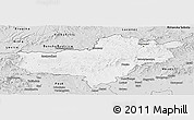 Silver Style Panoramic Map of Nógrád