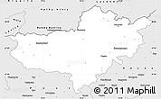 Silver Style Simple Map of Nógrád