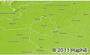 Physical 3D Map of Nyiregyháza