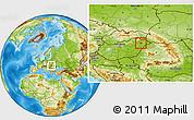 Physical Location Map of Nyiregyháza